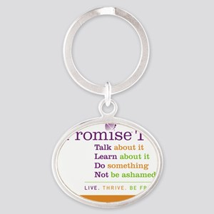 iPromise To...on White Oval Keychain