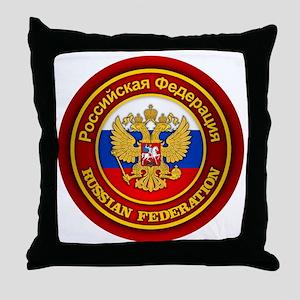 Russia COA (round) Throw Pillow