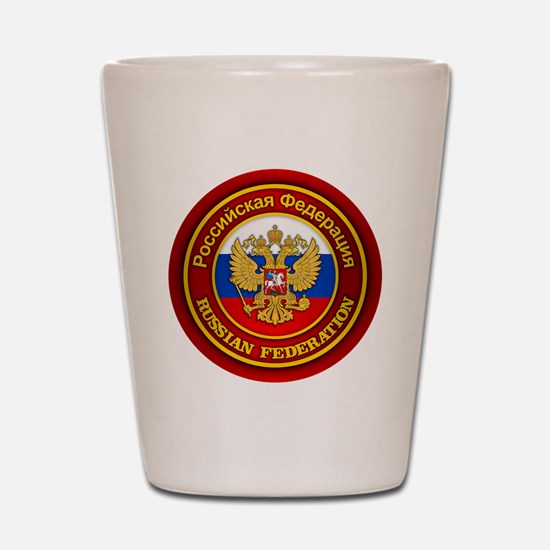 Russia COA (round) Shot Glass