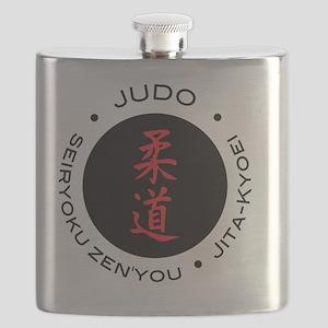 Judo Logo circle maximum efficiency Flask