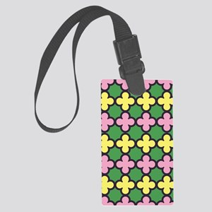Quatrefoil Summertime Fun Colors Large Luggage Tag