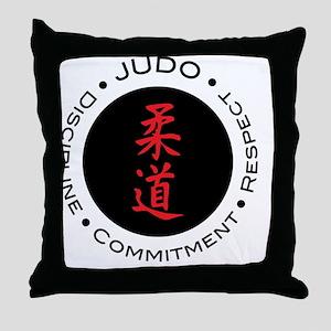 Judo Logo circle Throw Pillow
