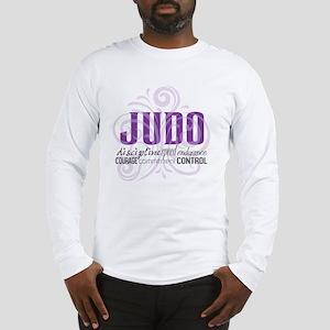 Judo purple scrolls Long Sleeve T-Shirt