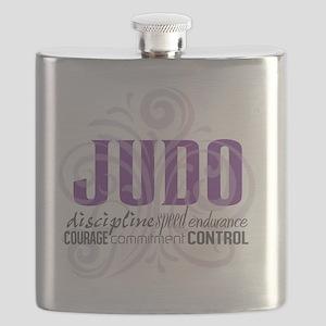 Judo purple scrolls Flask