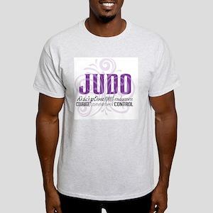 Judo purple scrolls Light T-Shirt