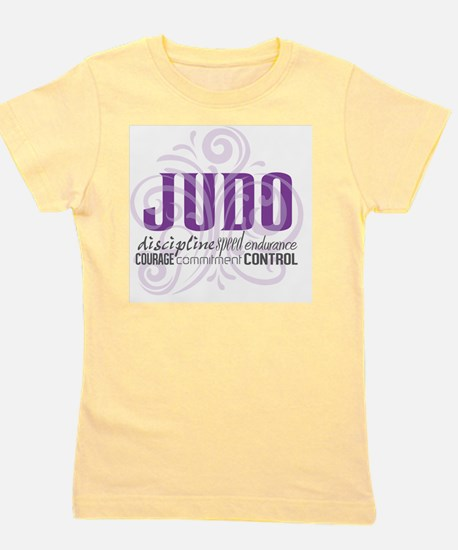 Judo purple scrolls Girl's Tee