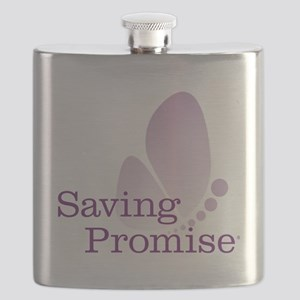 Saving Promise Butterfly on White Flask