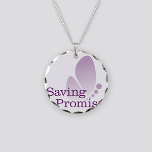 Saving Promise Butterfly on  Necklace Circle Charm
