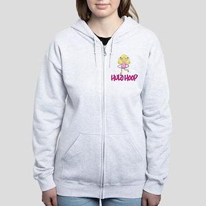 Hula Hoop Girl -Pink- Women's Zip Hoodie