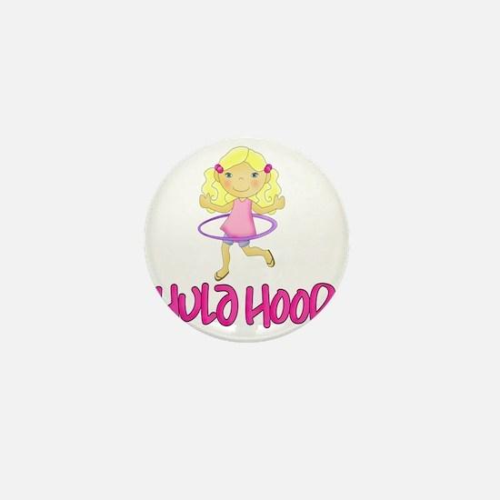 Hula Hoop Girl -Pink- Mini Button