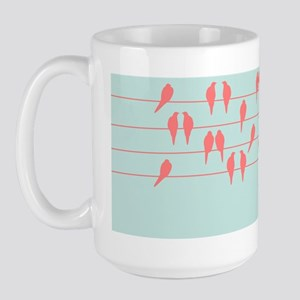 birds on a wire Large Mug