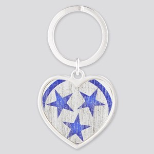 Aged Tennessee Heart Keychain