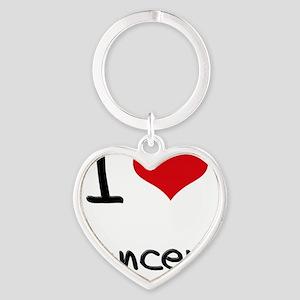 I Love Dancers Heart Keychain