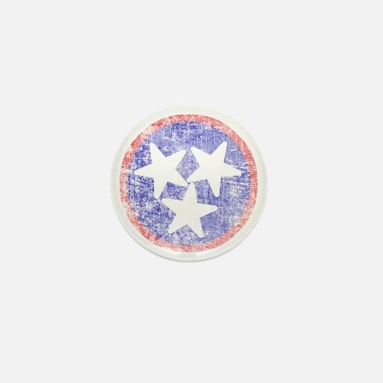 Faded Tennessee American Mini Button