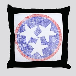 Faded Tennessee American Throw Pillow