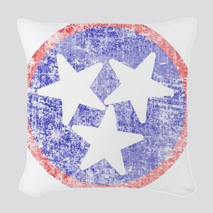 Faded Tennessee American Woven Throw Pillow