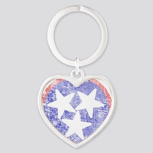 Faded Tennessee American Heart Keychain