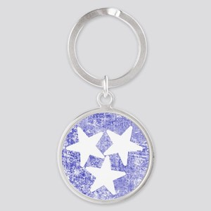 Faded Tennessee American Round Keychain