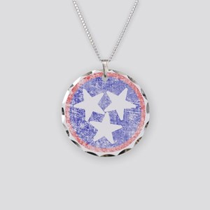 Faded Tennessee American Necklace Circle Charm