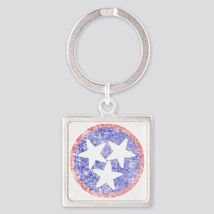 Faded Tennessee American Square Keychain