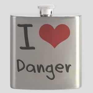 I Love Danger Flask