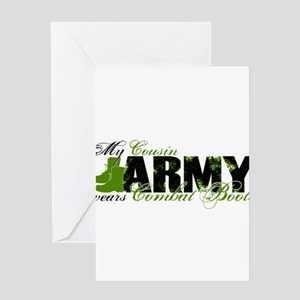 Cousin Combat Boots - ARMY Greeting Cards