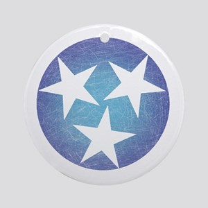 Cool Blue Tennessee Round Ornament