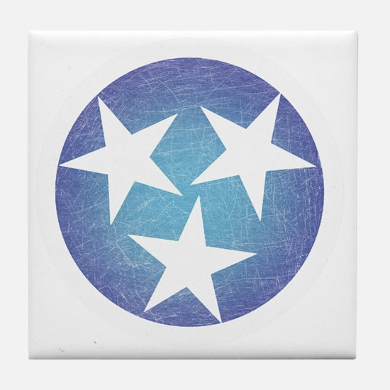 Cool Blue Tennessee Tile Coaster