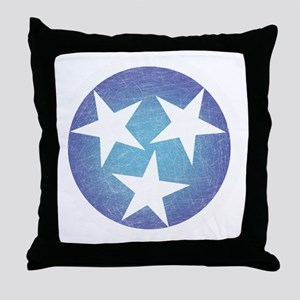 Cool Blue Tennessee Throw Pillow