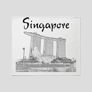 Singapore_10x10_v1_MarinaBaySands_Bl Throw Blanket
