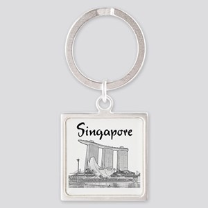 Singapore_10x10_v1_MarinaBaySands_ Square Keychain