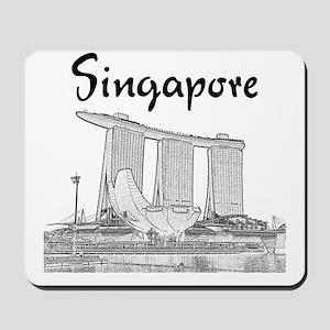 Singapore_10x10_v1_MarinaBaySands_BlackG Mousepad