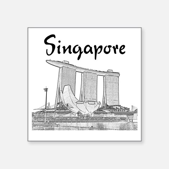 "Singapore_10x10_v1_MarinaBa Square Sticker 3"" x 3"""