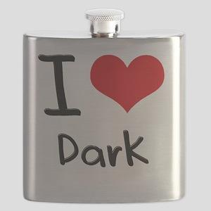 I Love Dark Flask