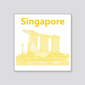 "Singapore_10x10_v3_MarinaBa Square Sticker 3"" x 3"""