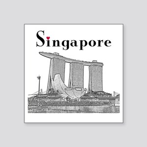 "Singapore_10x10_v2_MarinaBa Square Sticker 3"" x 3"""
