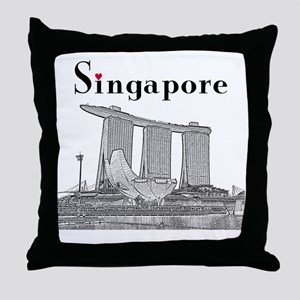 Singapore_10x10_v2_MarinaBaySandsMuse Throw Pillow