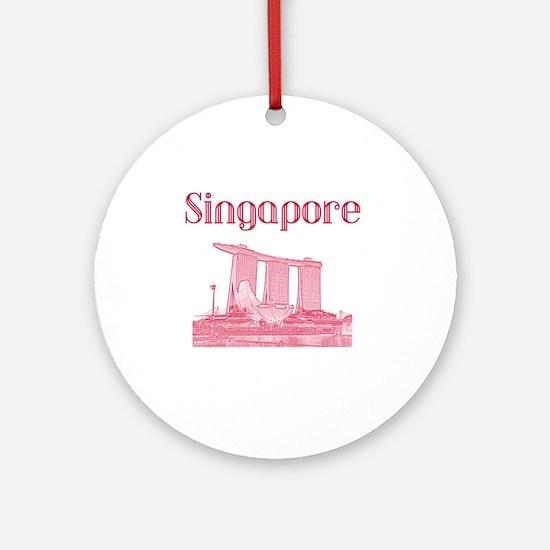 Singapore_12X12_MarinaBaySandsMuseu Round Ornament