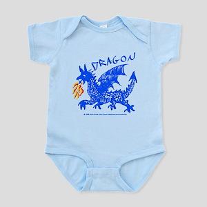 Blue Gestural Dragon Infant Bodysuit