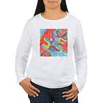 Multicolor Oak Leaf Art Women's Long Sleeve T-Shir