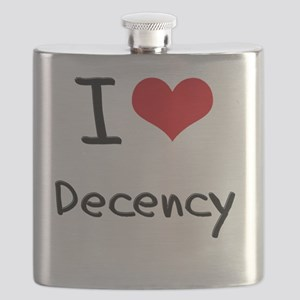I Love Decency Flask