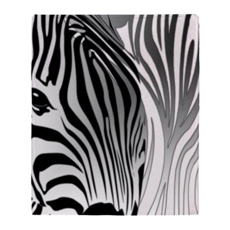 zebra contrast black and white throw blanket by admin cp9113865. Black Bedroom Furniture Sets. Home Design Ideas