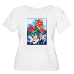Fish and Flowers Art T-Shirt