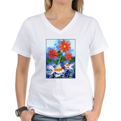 Fish and Flowers Art Shirt