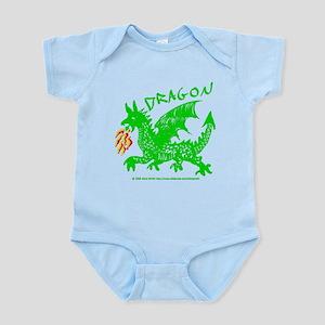 Green Gestural Dragon Infant Bodysuit