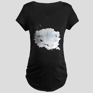 Ermine in the Snow Maternity Dark T-Shirt