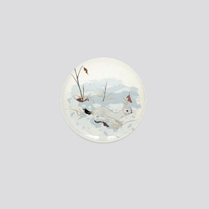 Ermine in the Snow Mini Button