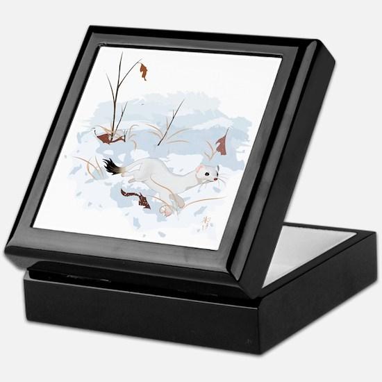 Ermine in the Snow Keepsake Box