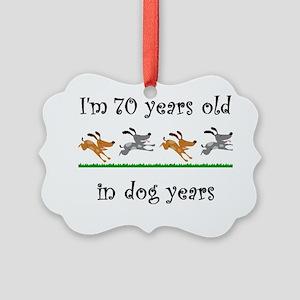 10 dog birthday 1 Picture Ornament
