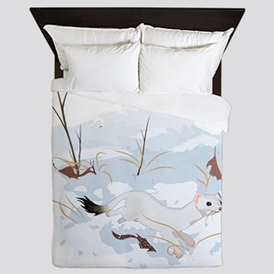 Ermine in the Snow Queen Duvet
